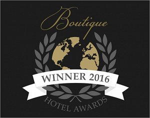 WINNER - BOUTIQUE HOTEL AWARDS 2016